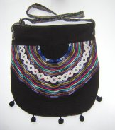 Huipil Bag -  Large Half Moon Joyabaj Black 7