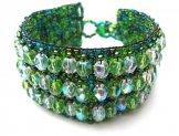 Crystal Cuff Bracelet - Leaf