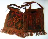 Assorted Large Square  Huipil Bags from Chichicastenango- Rust