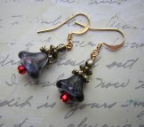 Lily Earrings - Dusk & Red
