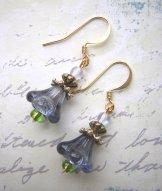 Lily Earrings - Dusk & Green