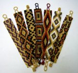 Medium - Pattern Woven Bracelet - Gold - Assorted