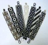 Medium - Pattern Woven Bracelet - Silver - Assorted