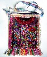 Huipil Bag -  Medium Square Chichicastenango  Flowers & Diamonds 2 ***SOLD***