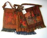 Assorted Medium Square Huipil Bags from Chichicastenango- Rust