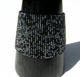 Wide Woven Bracelet - Menswear Tweed