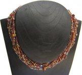 Monaco Necklace - Cinnamon Tweed with Copper Pearls