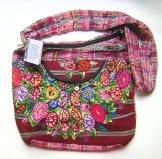 Huipil - X Large Patzun Market  Bag Flowers 3 ***SOLD***