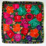 Embroidered Pillow Cover - Mayan Flowers 21 ***SOLD***