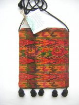 Huipil  -  Pocket Bag Patzicia Ducks and Roses ***SOLD***