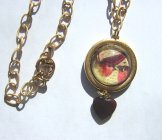 Red Bird Necklace - Gold