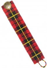 Slim Red Plaid ArtCuff