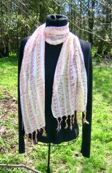 Skinny Scarf - Ribbon Stripe - Lily