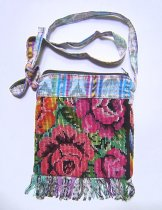 Huipil Bag -  Small Square Chichicastenango Roses 5 ***SOLD***