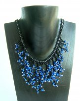Seaweed Necklace - Assorted Blue