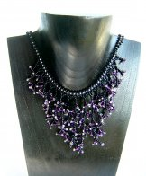Seaweed Necklace - Assorted Purple