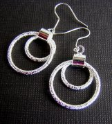 Silver Earring - Double Ring