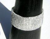 Medium Woven Bracelet - Silver Shine