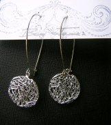 Wire Disc Earring - Silver