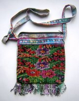 Huipil Bag - Small Square Chichicastenango  Flowers 11 ***SOLD***