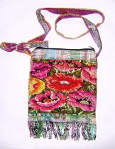 Huipil Bag - Small Square Chichicastenango  Flowers 10 ***SOLD***