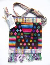 Huipil Bag -  Small Square Chichicastenango  Pattern 7 ***SOLD***