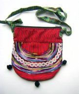 Huipil Bag - Small Half Moon Joyabaj Red 4