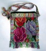 Huipil Bag - Small Square Chichicastenango Lavender Rose ***SOLD***