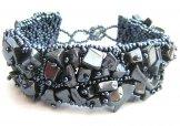Stone Square Bracelet - Hematite