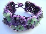 Stone Square Bracelet - Pink Lilac & Mint