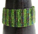 Medium - Stripe Woven Bracelet - Green