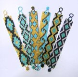 Medium - Pattern Woven Bracelet - Turquoise - Assorted