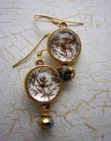 Gold Vintage Twig Earrings