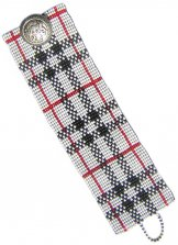 White Plaid ArtCuff