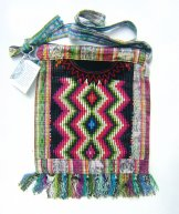 Huipil Bag -  Medium Square Chichicastenango  Zig Zag 2