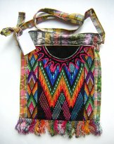 Huipil Bag -  Medium Square Chichicastenango  Zig Zag 3 ***SOLD***